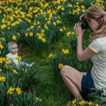 Mother uses daffodils as canvas for her daughter's portrait