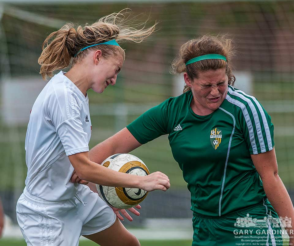 Action from the Westerville South - Clay Oregon soccer. My final Photo for Aug. 31, 2013.