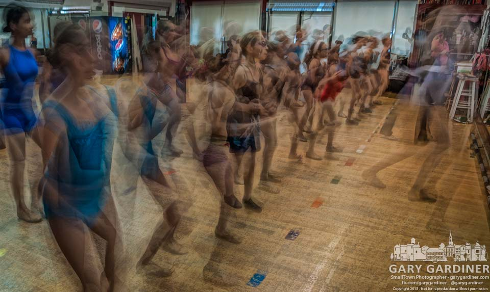 "Dancers at Generations are a blur as they practice selections from ""The Wiz"" for their next recital. My Final Photo for Sept. 20, 2013."