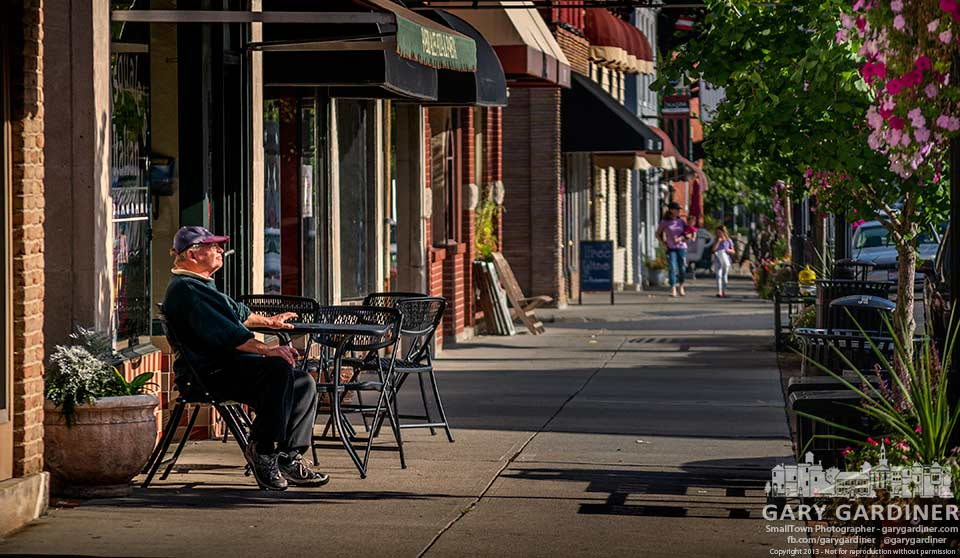 A quiet afternoon on the sidewalk in Uptown Westerville. My Final Photo for Sept. 17, 2013.