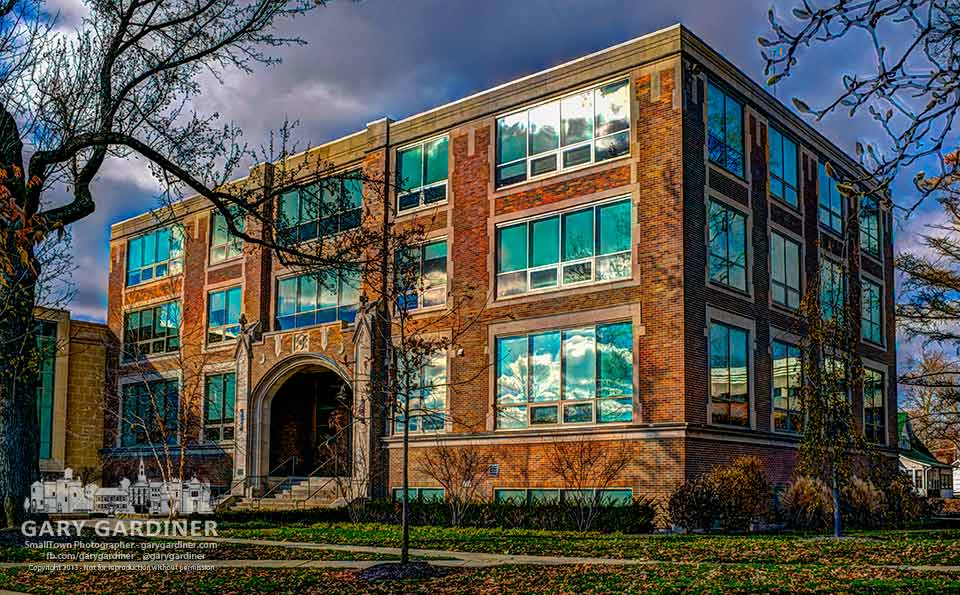 Shear-McFadden Science Hall on Otterbein University campus in HDR. My Final Photo for Nov. 24, 2013.