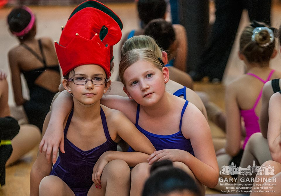 Tow dancers at Generations listen attentively as they receive instructions for a specific moment in their recital dances scheduled for the weekend. My Final Photo for Dec. 3, 2013.