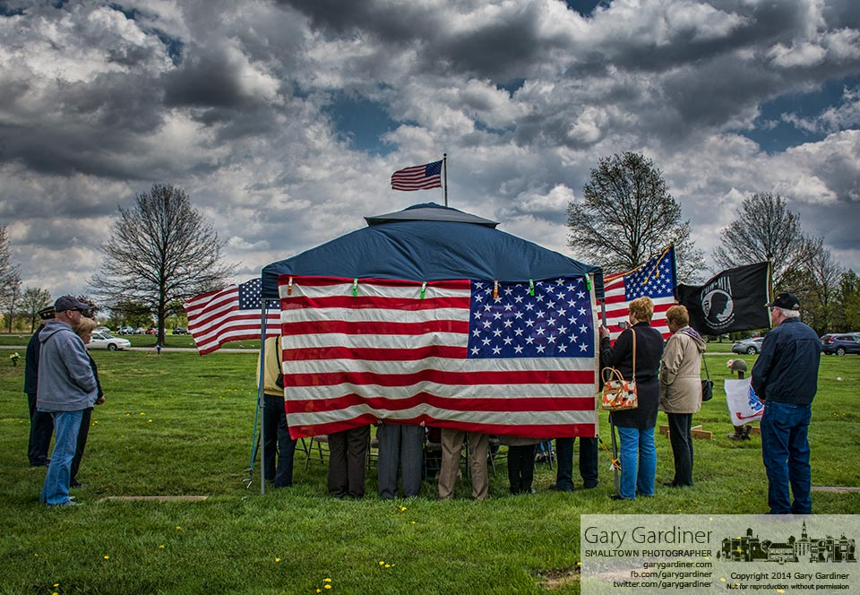 American Legion Post 171 performs a delayed Honor Guard ceremony for a World War II soldier buried at Northlawn Memorial Gardens. My Final Photo for May 3, 2014.