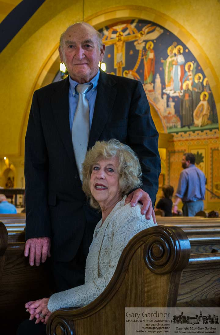 Bill and Bonnie Hamilton sit for a quick photo after celebrating their 60th anniversary at St. Paul Church. My Final Photo for June 8, 2014.