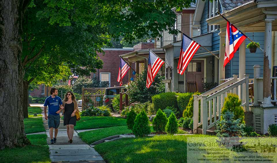 Skyler and Lauren walk along Winter Street in uptown Westerville late on a Friday afternoon. My Final Photo for August 1, 2014.