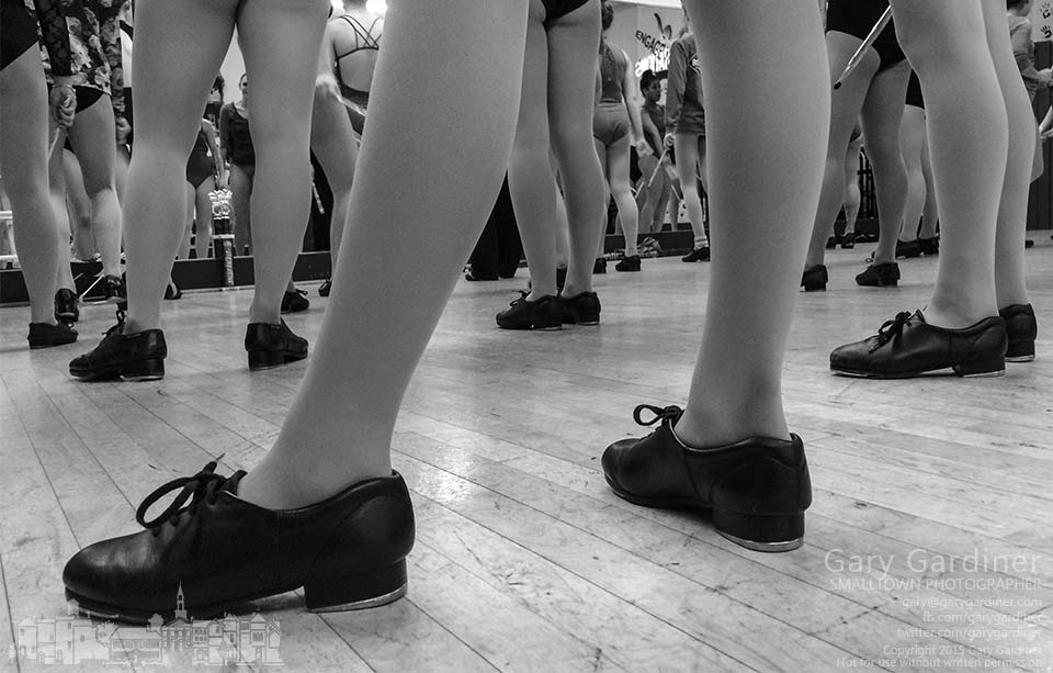 Dancers pause during tap class to listen to the instructor explain the necessity for precision in their movements. My Final Photo for Jan. 8, 2015.