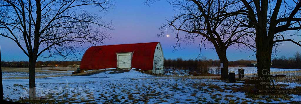 Then full moon rises over the farm fields at the Braun Farm in Westerville. My Final Photo for Feb. 2, 2015.