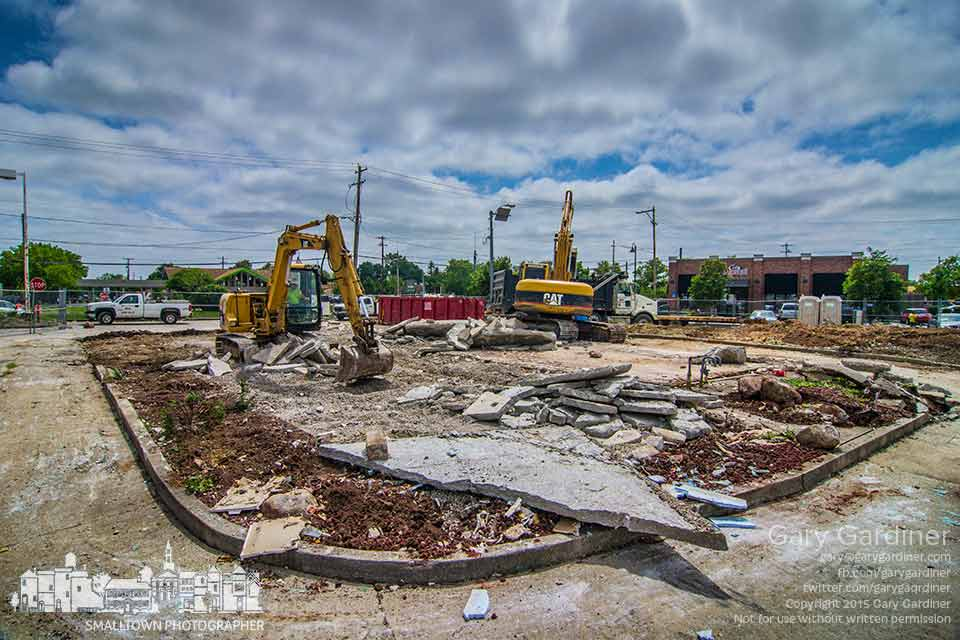 Only rubble remains from the old Taco Bell on Schrock Road where a demolition crew removed the old building to make way for a new Taco Bell restaurant. My Final Photo for July 15, 2015.