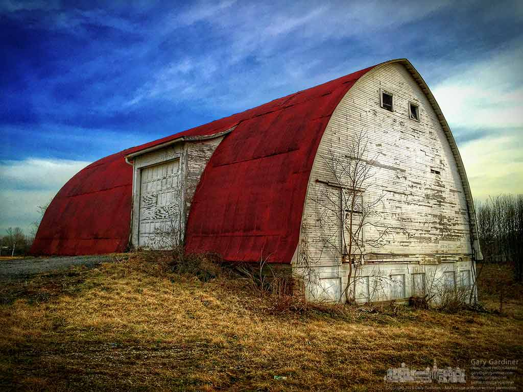 The barn at the Braun Farm at Cleveland Ave. and Cooper Rd. on a warm late winter morning. My Final Photo for March 7, 2016.