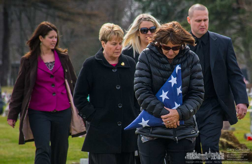 World War II Women's Air Corps veteran Francis Skilondz receives military honors at her funeral in Blendon Cemetery. My Final Photo for March 11, 2016.