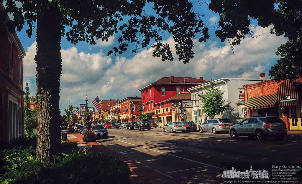 Uptown Westerville glows in the warmth of a late afternoon August sun. My Final Photo for August 25, 2016.
