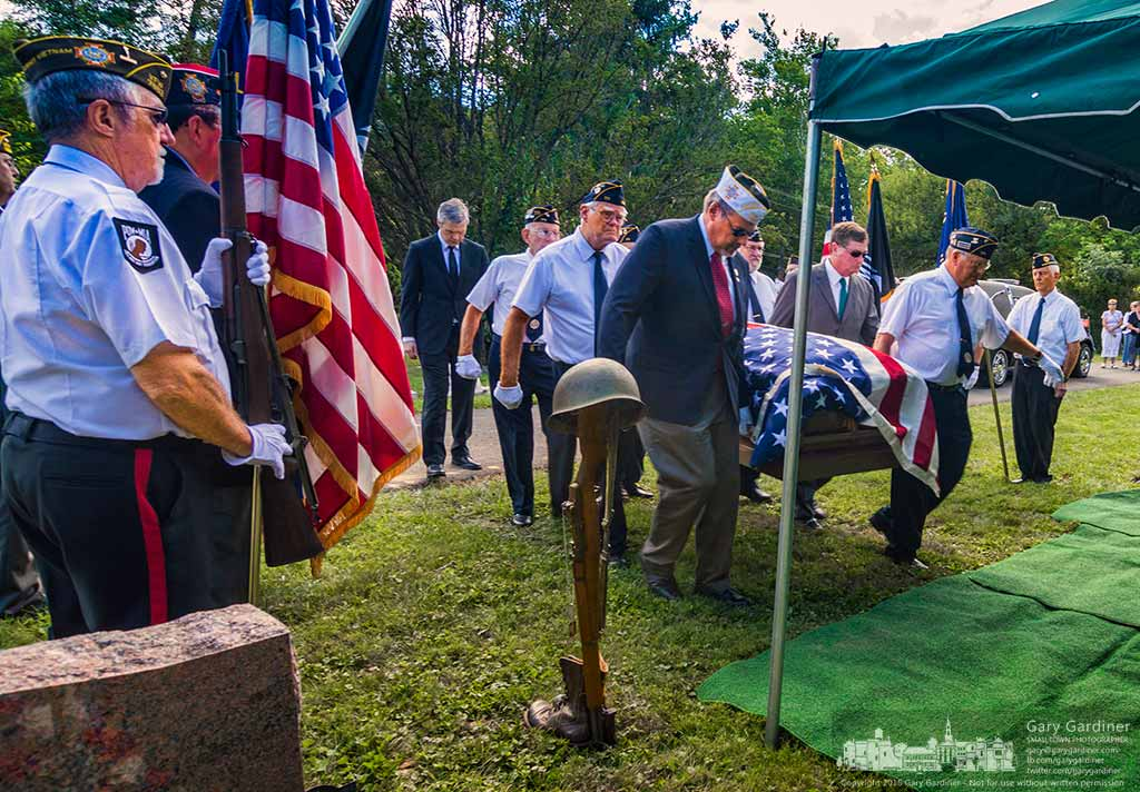 Members of the VFW and American Legion Honor Guards carry the casket of Bob Arn, World War II and recipient of the Congressional Gold Medal for his service during the war. My Final Photo for September 1, 2016.