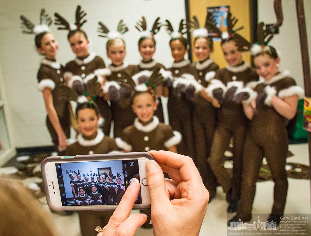 Dancers dressed as reindeer gather for a group photo after their performance onstage at Generations Christmas show Saturday afternoon. My Final Photo for Dec. 3, 2016.