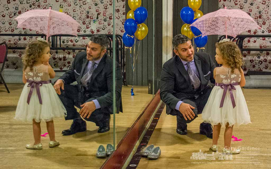 A father and daughter pause between dances at a father-daughter dance in Generation Performing Arts Saturday night. My Final Photo for March 18, 2017.
