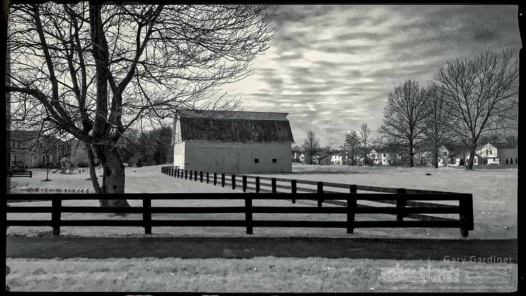 One of the restored barns on Old 3C Highway is bathed in the light of a crisp winter afternoon. My Final Photo for March 4, 2017.