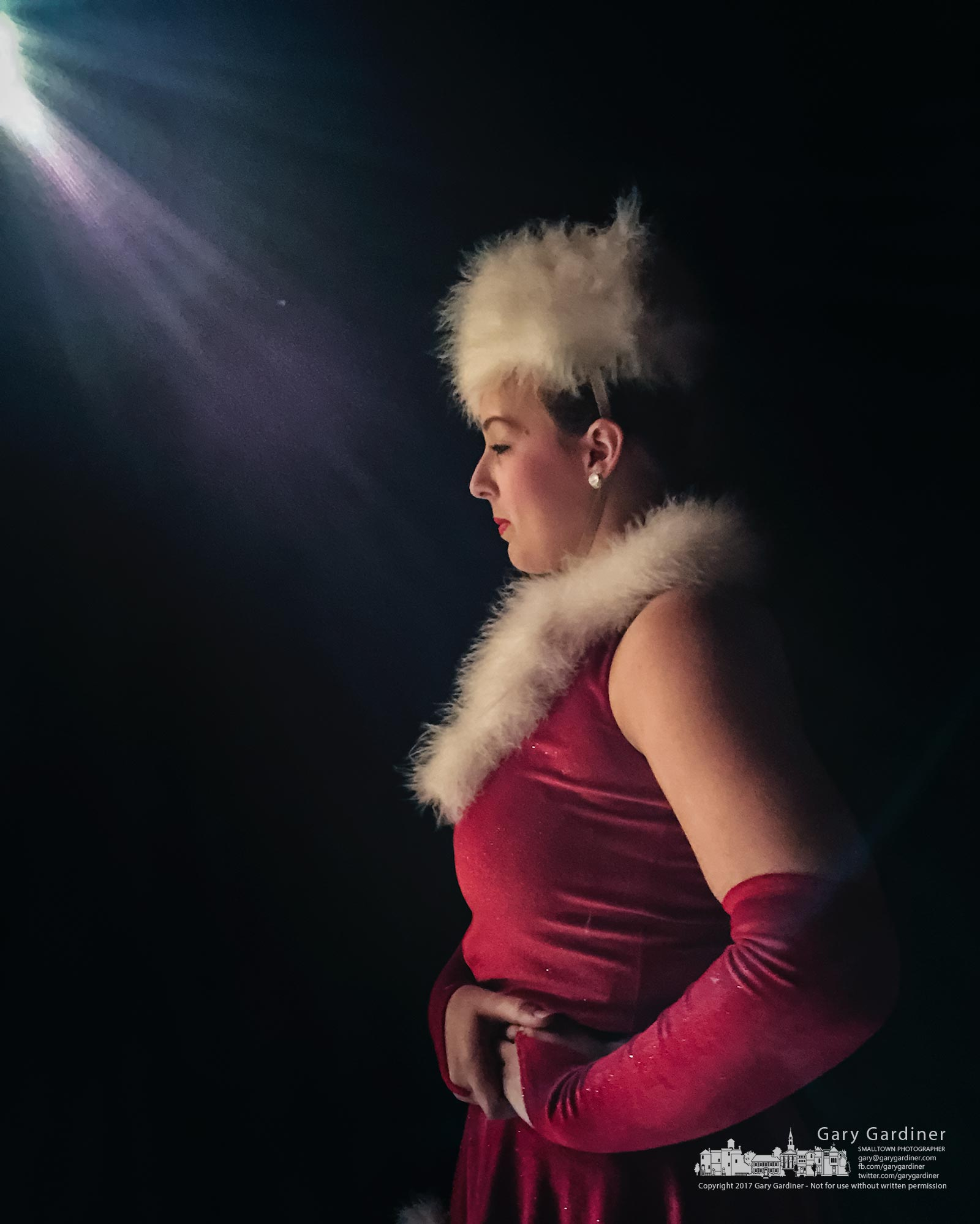 A Generations Performing Arts Center dancer stands in the wings waiting for her cue to enter the stage during dress rehearsals for there weekend Christmas  performances. My Finall Photo for Dec. 5, 2017.