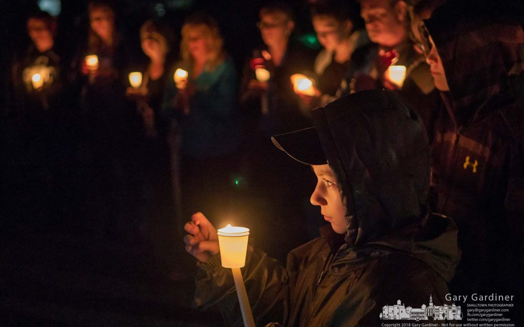 Vigil for police and families