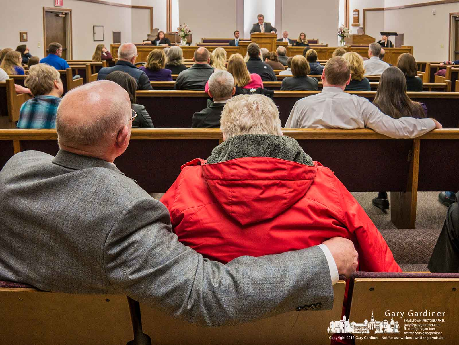 Mourners gather for an interfaith prayer vigil at the Church of Jesus Christ of Latter-Day Saints for Westerville Police Officers Anthony Morelli and Eric Joering who were killed last week. My Final photo for Feb. 18, 2018.