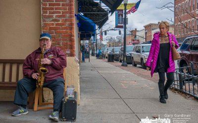 Solitary saxophone