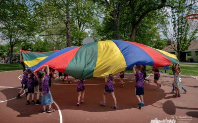 Rainbow Parachute Fun At The Park