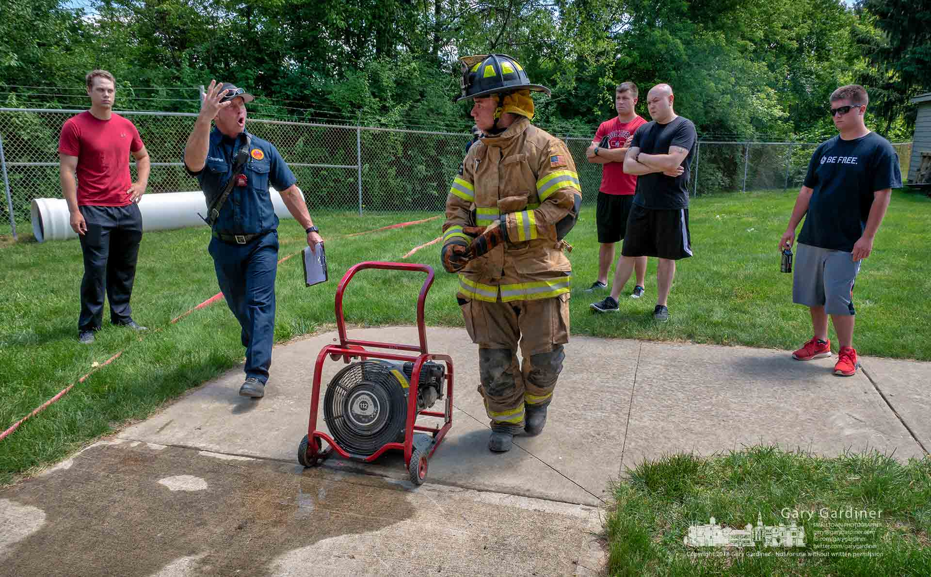 Westerville firefighters help cadets run through tactical training beginning with arriving at a fire, rescuing an injured person, and clearing the scene before their final exams. My Final Photo for June 4, 2018.
