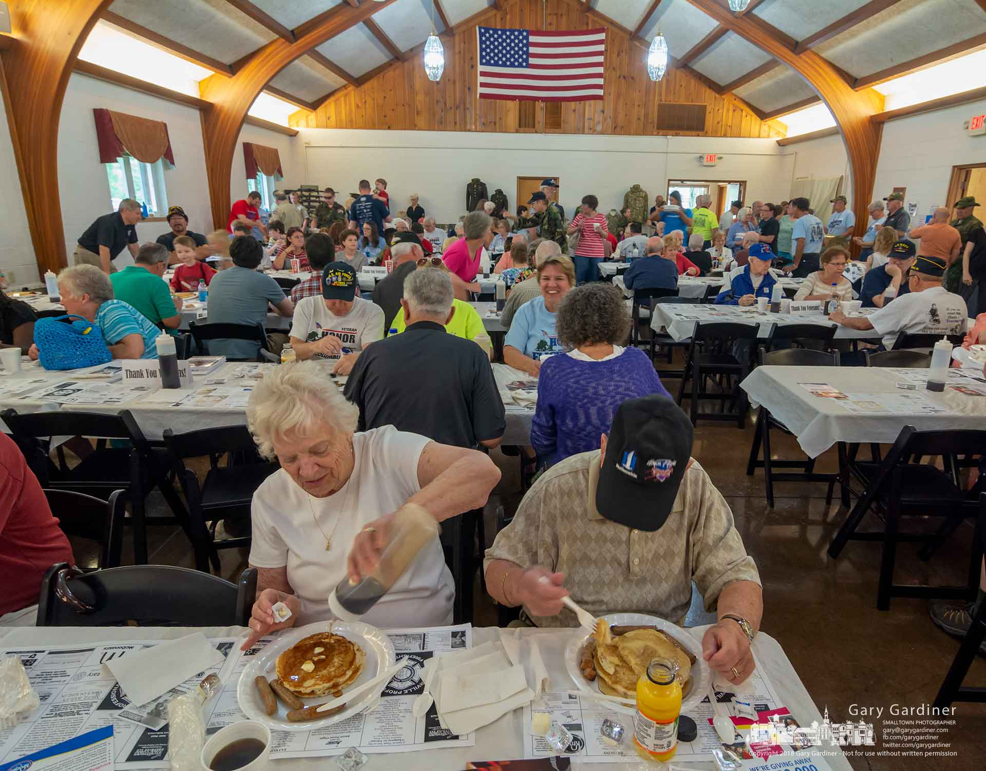 Pancakes and sausage was the morning fare for the Honor Flight pancake breakfast fundraiser at the American Legion Hall. My Final Photo for June 23, 2018.