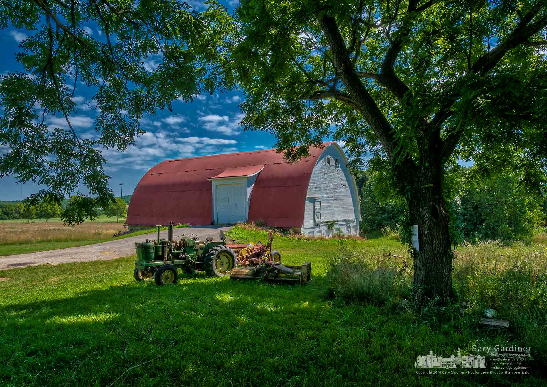 Planting, movement of tractors and implements, and removal of the bee hives changes the look of the Braun Farm property for the summer. My Final Photo for July 9, 2018.