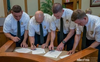 Newest Firefighters Make It Official