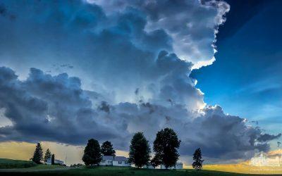 Summer Storm Over The Farmland