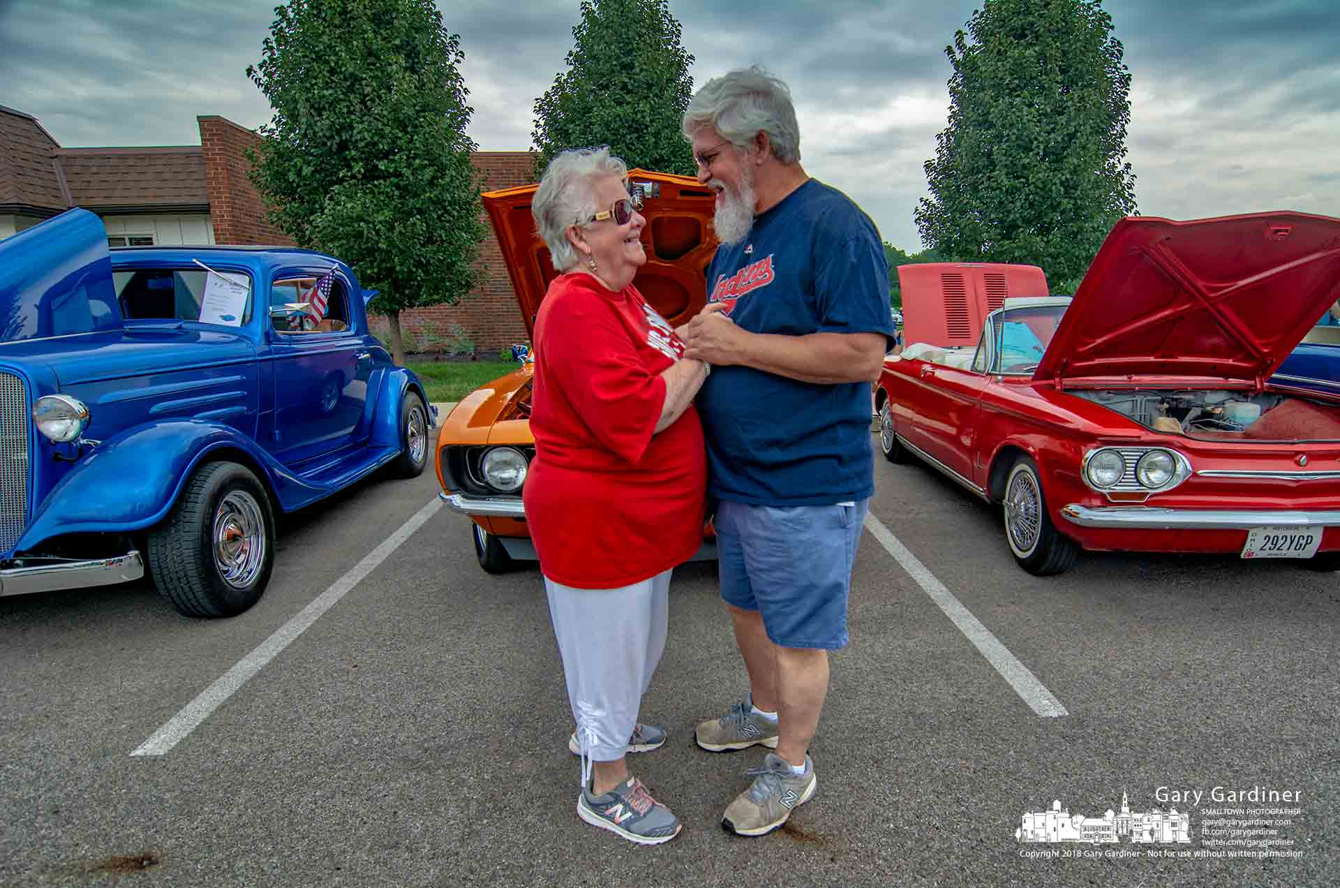 A couple slow dance to classic rock and roll at the classic car show at the Blendon Township Heritage Day celebration. My Final Photo for Aug. 25, 2018.