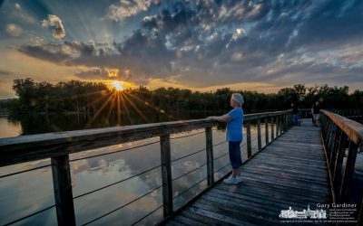 Hoover Boardwalk Sunset