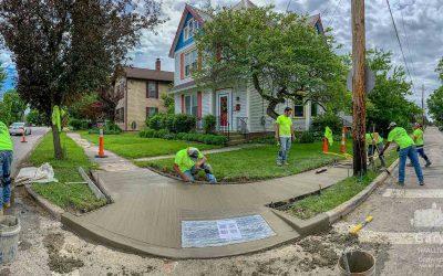 Corner Concrete Work