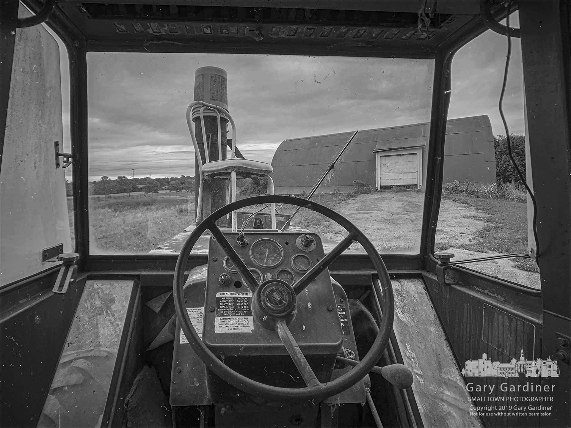 The barn on the Braun Farm as seen from the driver's seat of the tractor parked in the roadway leading to the barn. My Final Photo for Aug. 26, 2019.