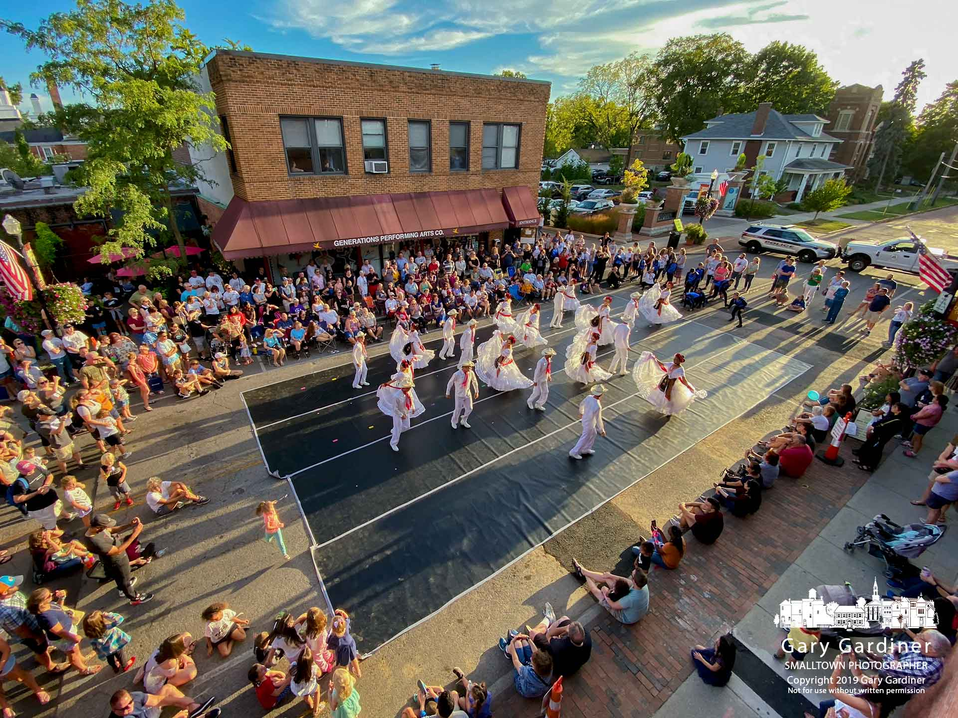 """""""Mexico in the World"""" dancers perform a portion of their production on West College for people who attended Fourth Friday in Uptown Westerville. My Final Photo for Sept. 27, 2019."""