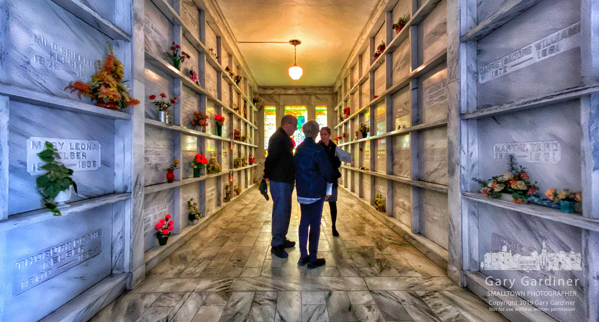 Otterbein Mausoleum Re-Dedicated - Visitors to the Otterbein Cemetery Mausoleum listen to stories about the 95-year-old structure that was rededicated Sunday after an extensive restoration process. My Final Photo for Nov. 10, 2019.