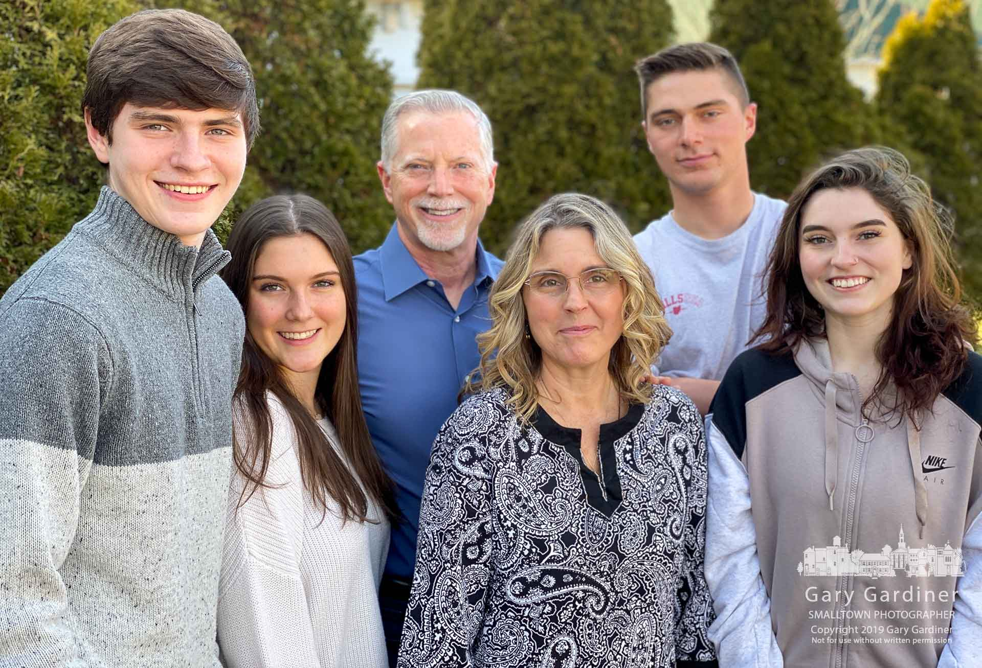 The Robbins family poses for a quick family portrait during an afternoon break in Christmas celebration at their home. My Final Photo for Dec. 21, 2019.