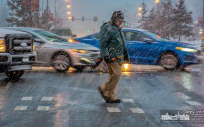 Rush Hour Snow Crossing
