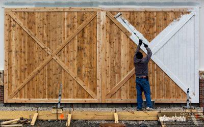 Painting The Carwash Barn Door