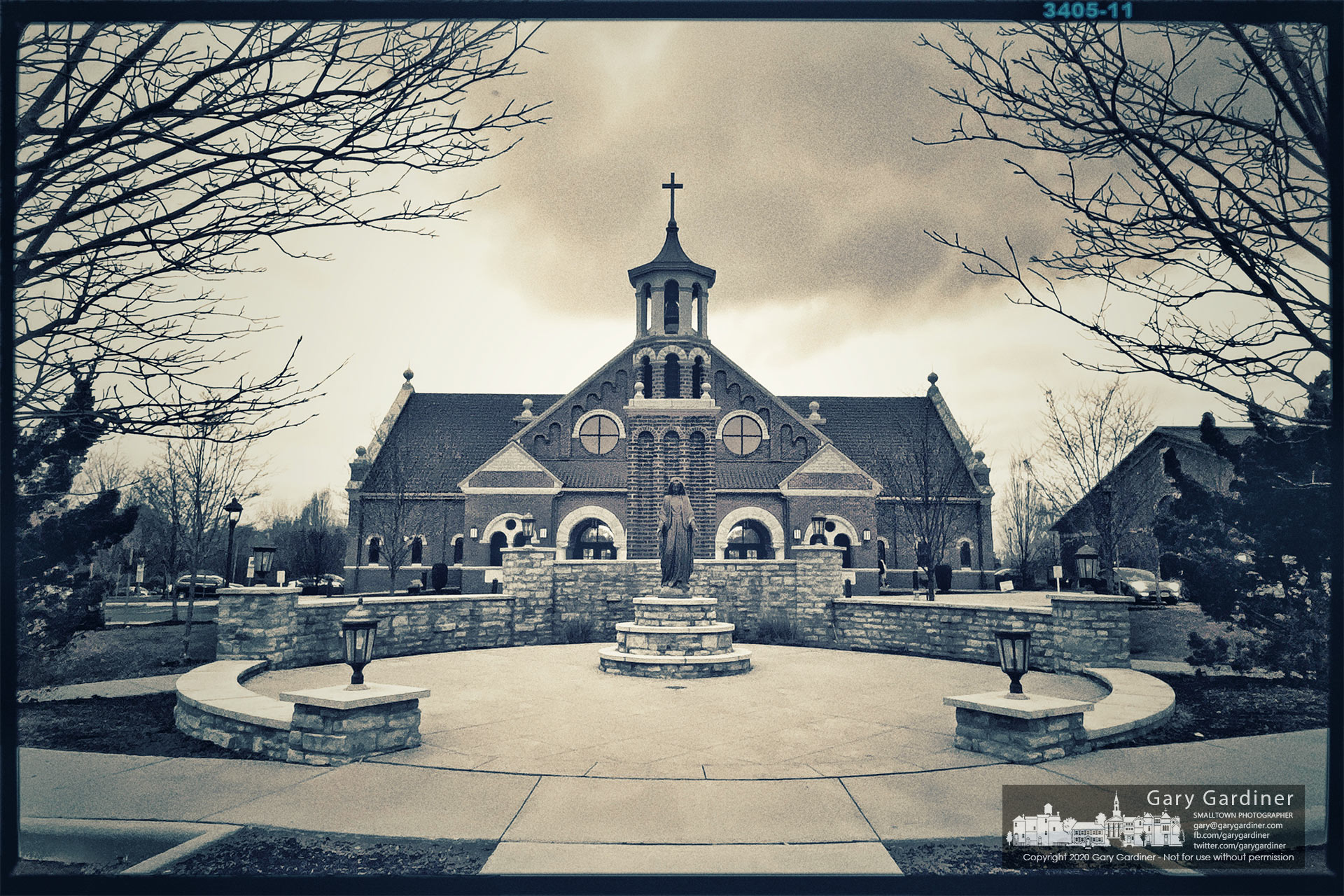 Cloudy skies greet parishioners arriving for the first Mass on Sunday. My Final Photo for Dec. 13, 2020.