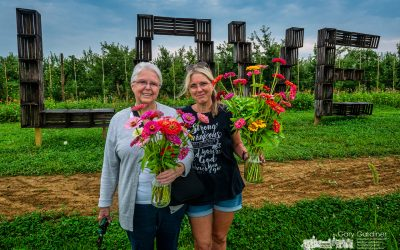 Mother, Daughter, Flowers, And Love