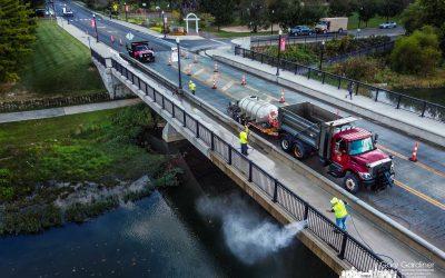 Cleaning The Main Street Bridge
